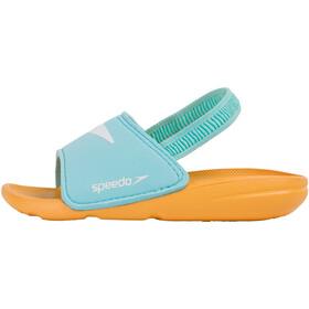speedo Atami Sea Squad Claquettes Enfant, turquoise/mango